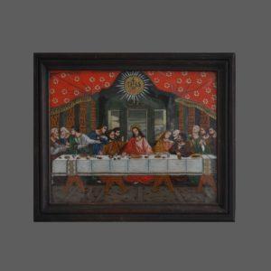 greinwald abendmahl hinterglasbild glasbild