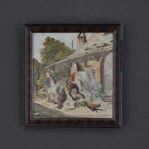 friedrich lossow tiermaler aquarell greinwald
