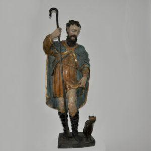 heilger rochus skulptur holz barock